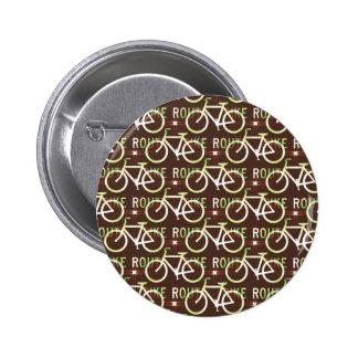 Fun Bike Route Fixie Bike Cyclist Pattern Pins