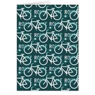 Fun Bike Route Fixie Bike Cyclist Pattern Card