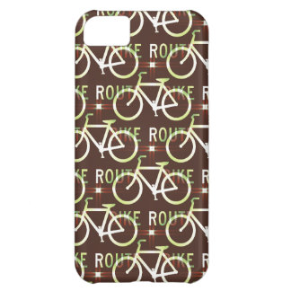 Fun Bike Route Fixie Bike Cyclist Pattern Cover For iPhone 5C
