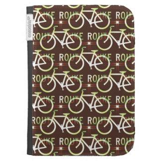 Fun Bike Route Fixie Bike Cyclist Pattern Kindle Cases