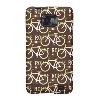 Fun Bike Route Fixie Bike Cyclist Pattern Galaxy SII Case