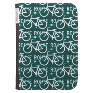 Fun Bike Route Fixie Bike Cyclist Pattern Kindle 3 Cases
