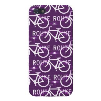 Fun Bike Route Fixie Bike Cyclist Pattern iPhone 5 Cover