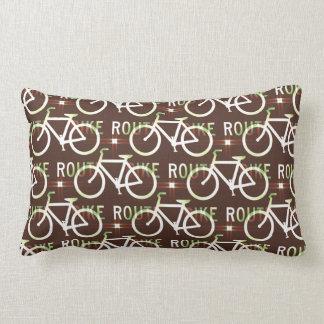 Fun Bike Route Fixie Bike Cyclist Pattern Lumbar Pillow