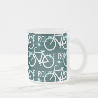 Fun Bike Route Fixie Bike Cyclist Pattern Mug
