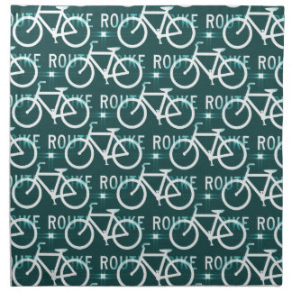 Fun Bike Route Fixie Bike Cyclist Pattern Napkin