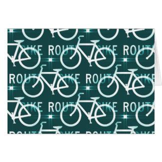 Fun Bike Route Fixie Bike Cyclist Pattern Note Card