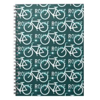 Fun Bike Route Fixie Bike Cyclist Pattern Journal