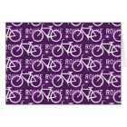 Fun Bike Route Fixie Bike Cyclist Pattern Purple Card