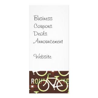 Fun Bike Route Fixie Bike Cyclist Pattern Custom Rack Cards