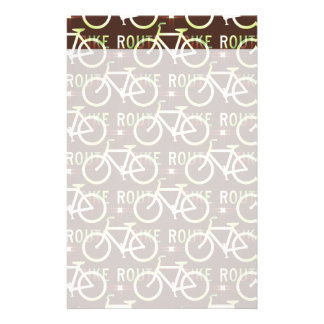 Fun Bike Route Fixie Bike Cyclist Pattern Custom Stationery