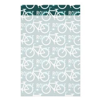 Fun Bike Route Fixie Bike Cyclist Pattern Customized Stationery