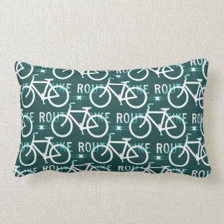 Fun Bike Route Fixie Bike Cyclist Pattern Throw Pillow