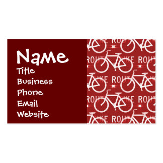 Fun Bike Route Fixie Vintage Bicycle Cyclist Business Card