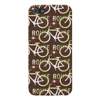 Fun Bike Route Fixie Vintage Bicycle Cyclist Covers For iPhone 5