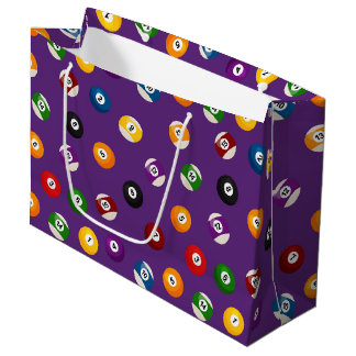 Fun Billiard sports pattern tiled party bag