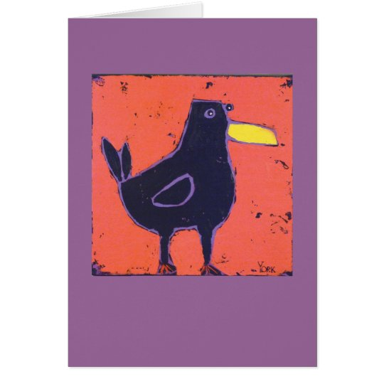 fun bird card