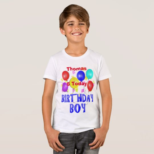 Fun Birthday Boy Celebration Personalised Age T-Shirt