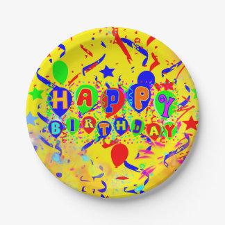 Fun birthday supplies 7 inch paper plate