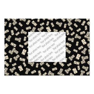 Fun black domino pattern art photo
