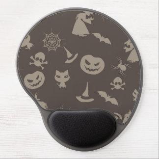 Fun Black Grey Halloween Design Gel Mouse Mat