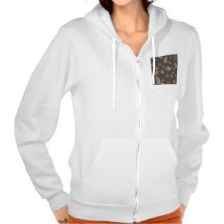 Fun Black Grey Halloween Design Hooded Pullover