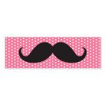 Fun black moustache on pink polka dots dot pattern