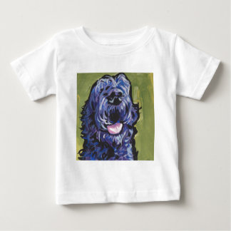 fun black schnoodle labradoodle fun pop art baby T-Shirt