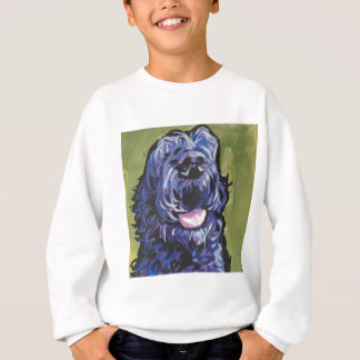 fun black schnoodle labradoodle fun pop art sweatshirt