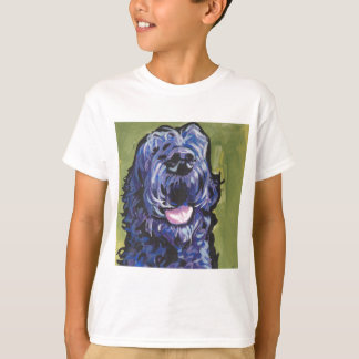 fun black schnoodle labradoodle fun pop art T-Shirt