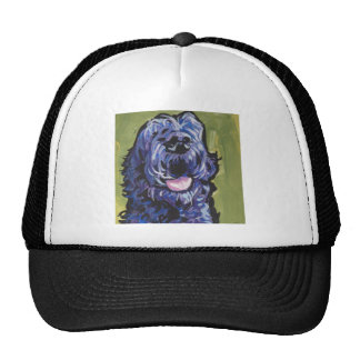 fun black schnoodle labradoodle fun pop art trucker hat