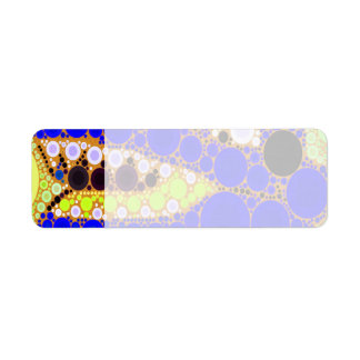 Fun Blue Alligator Crocodile Retro Circles Mosaic Return Address Label