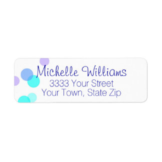 Fun Blue and Teal Bubbles Return Address Label