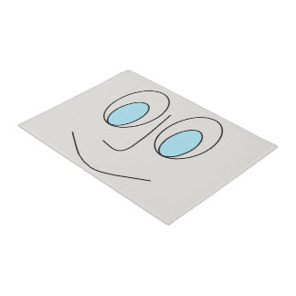 Fun Blue Eyed Smiley Face Design Doormat