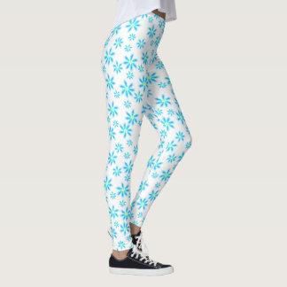 Fun Blue Floral Leggings