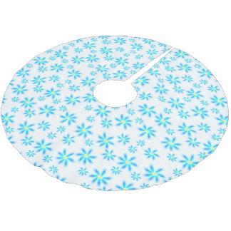 Fun Blue Floral Tree Skirt
