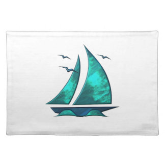 Fun Blue Sailboat Placemat