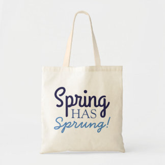 Fun Blue Spring Has Sprung! - Gradient Tote Bags -