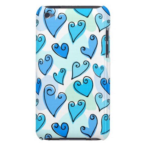 Fun Blue Valentine's hearts iPod Touch Case-Mate
