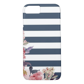 Fun blue & white stripped cell phone case