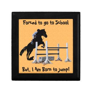Fun Born to Jump Equestrian Jewelry Box