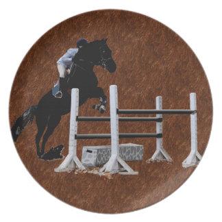 Fun Born to Jump Equestrian Party Plates