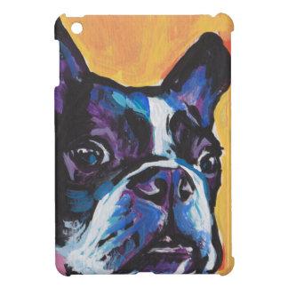 Fun Boston Terrier bright colorful Pop Art iPad Mini Cases