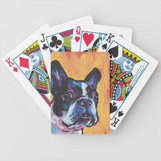 Fun Boston Terrier bright colorful Pop Art Poker Deck