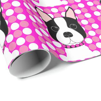 Fun Boston Terrier Wrapping Paper