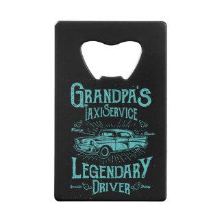 Fun Bottle Opener - Grandpa's Taxi Service Credit Card Bottle Opener