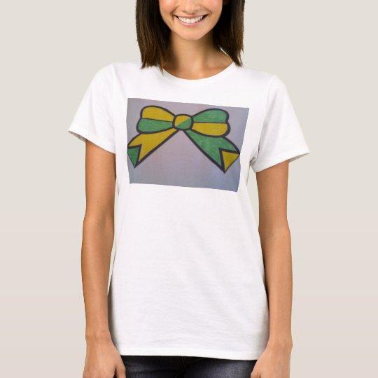 fun bow tie t-shirt basic white
