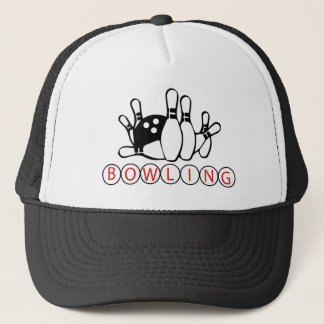 Fun Bowling ball and pins league lovers hat