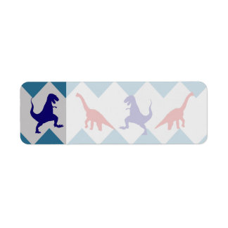 Fun Boys Dinosaurs Red Blue Chevron Pattern