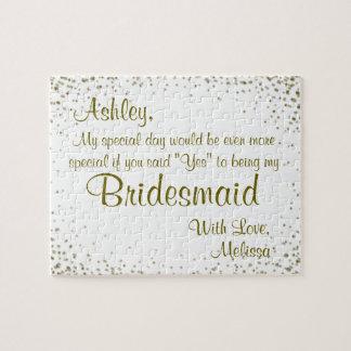Fun Bridesmaid Invitation Jigsaw Puzzle